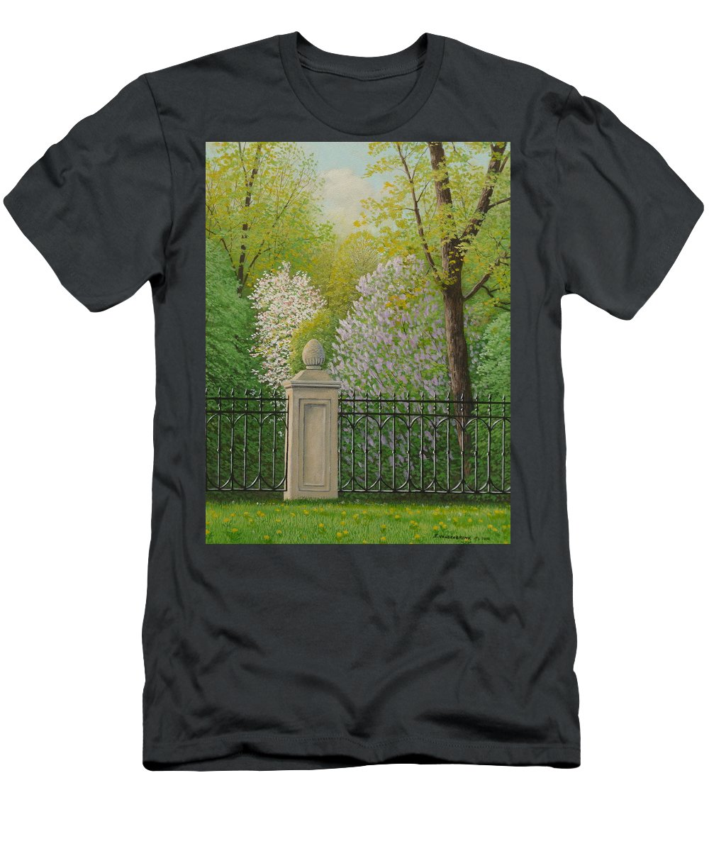 Garden T-Shirt featuring the painting Urban Oasis by Jake Vandenbrink