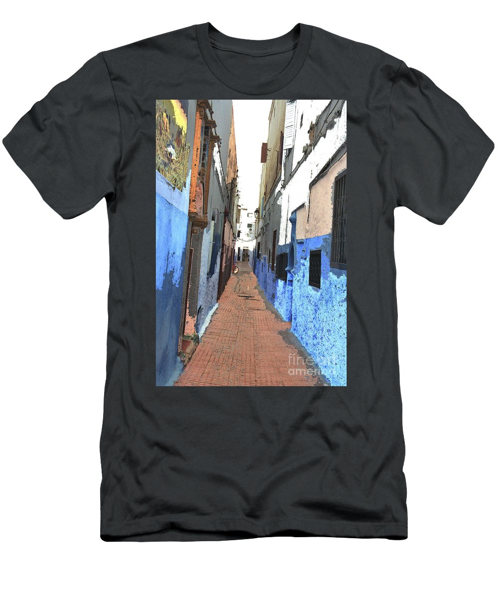 Urban Men's T-Shirt (Athletic Fit) featuring the photograph Urban Scene by Hana Shalom
