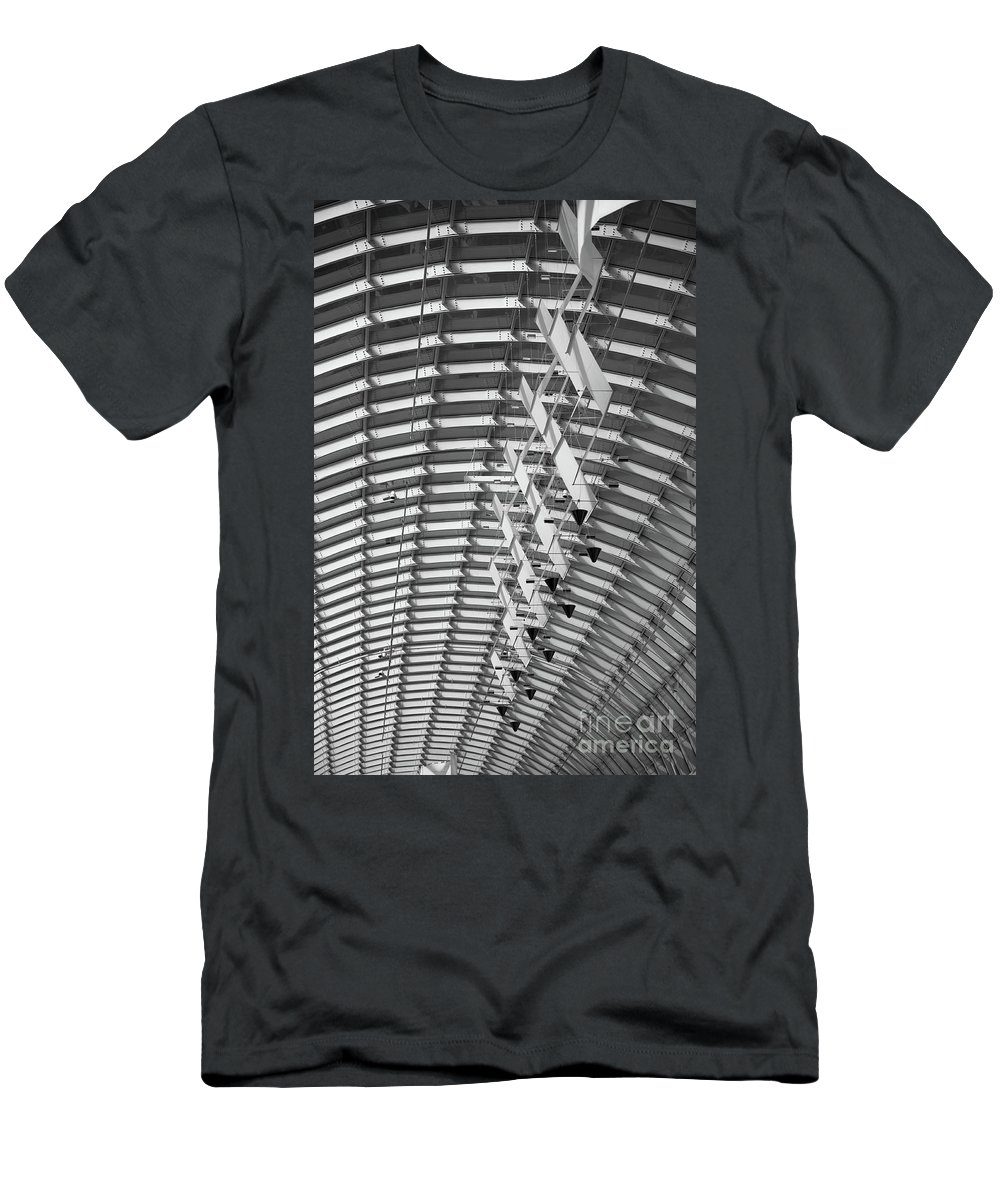 Architecture Men's T-Shirt (Athletic Fit) featuring the photograph Urban Sociology by Charles Dobbs