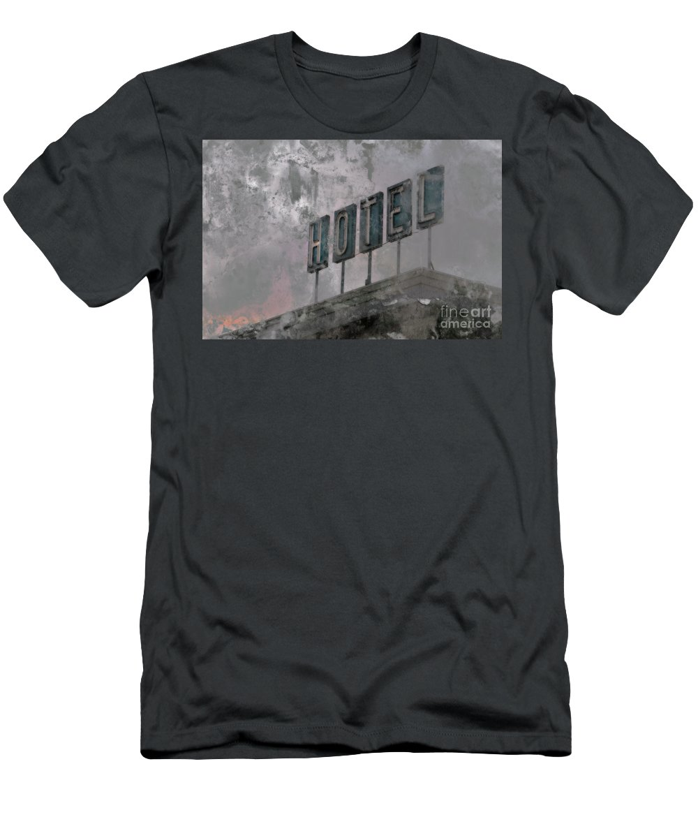 Hotel Men's T-Shirt (Athletic Fit) featuring the photograph Vacancy by Stacey Trujillo