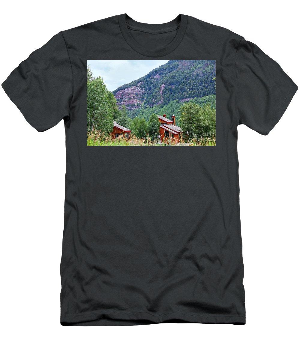Vail Men's T-Shirt (Athletic Fit) featuring the photograph Vail Landscape by Madeline Ellis