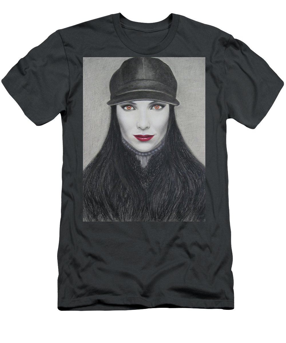 Vampire Men's T-Shirt (Athletic Fit) featuring the painting Vampire by Lynet McDonald