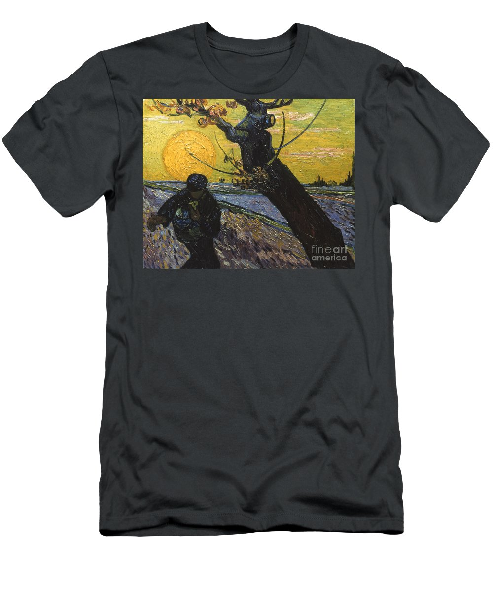 1888 Men's T-Shirt (Athletic Fit) featuring the photograph Van Gogh: Sower, 1888 by Granger