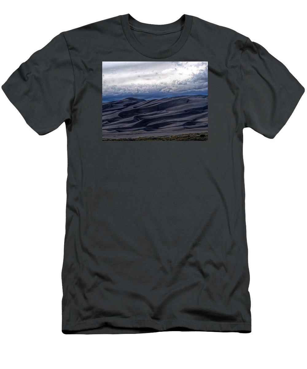 Great Sand Dunes National Park T-Shirt featuring the photograph Velvet At Night by Alana Thrower