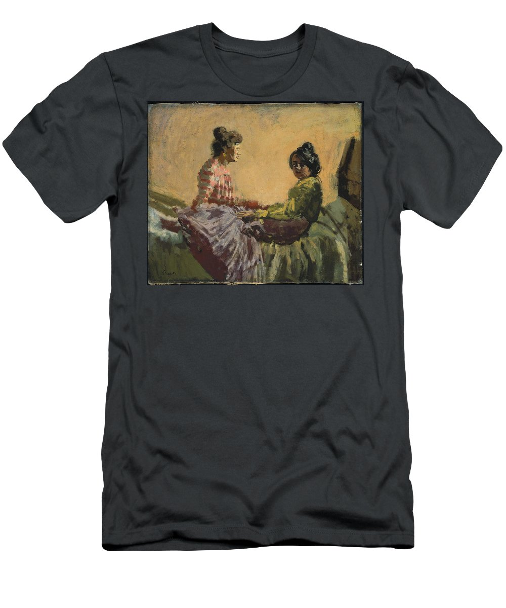 Venetian Women Men's T-Shirt (Athletic Fit) featuring the painting Venetian Women by MotionAge Designs