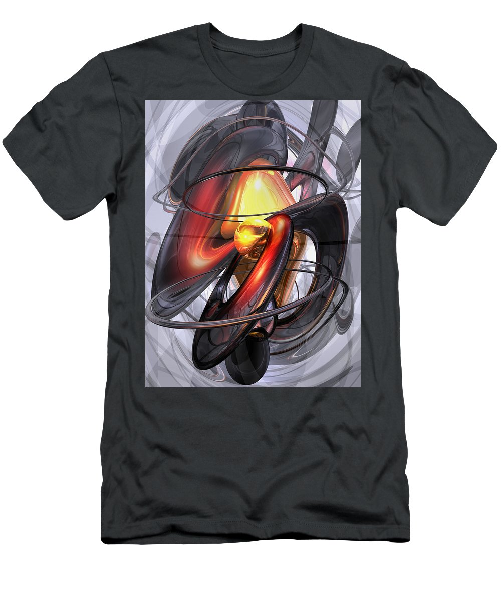 3d Men's T-Shirt (Athletic Fit) featuring the digital art Vengeance Abstract by Alexander Butler