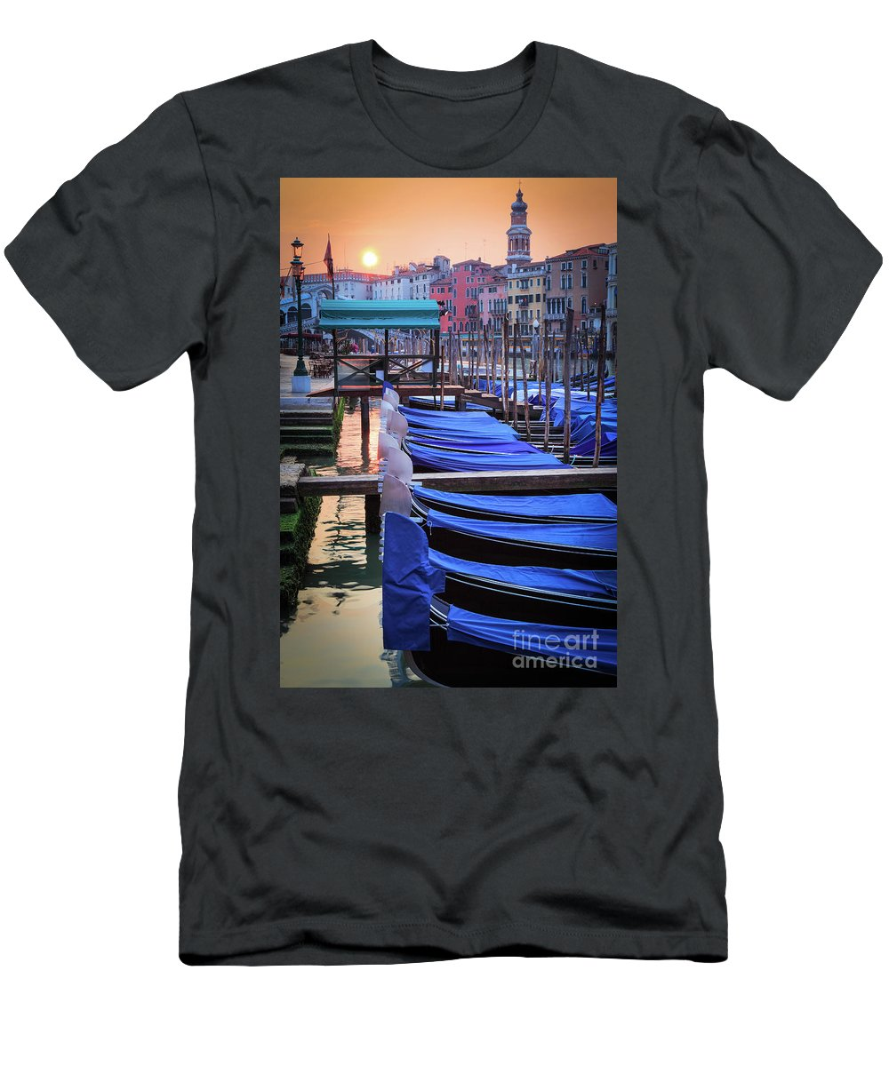Canal Grande T-Shirt featuring the photograph Venice Sunrise by Inge Johnsson