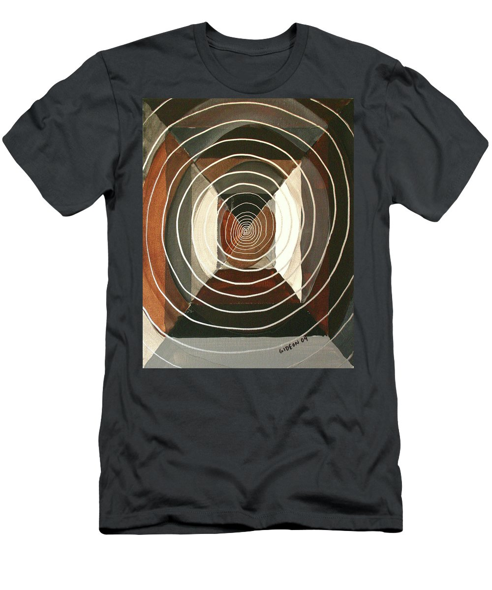 Drawing Men's T-Shirt (Athletic Fit) featuring the painting Vertigo by Gideon Cohn
