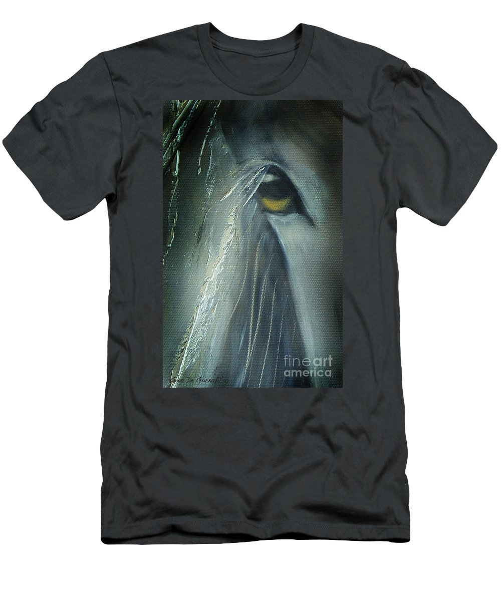 Horses T-Shirt featuring the painting View 2 by Gina De Gorna