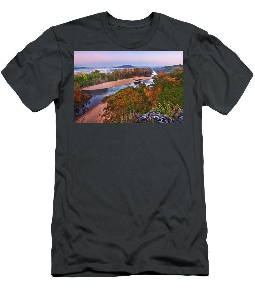 2011 Men's T-Shirt (Athletic Fit) featuring the photograph View From Greens Cave Bluff by Robert Charity