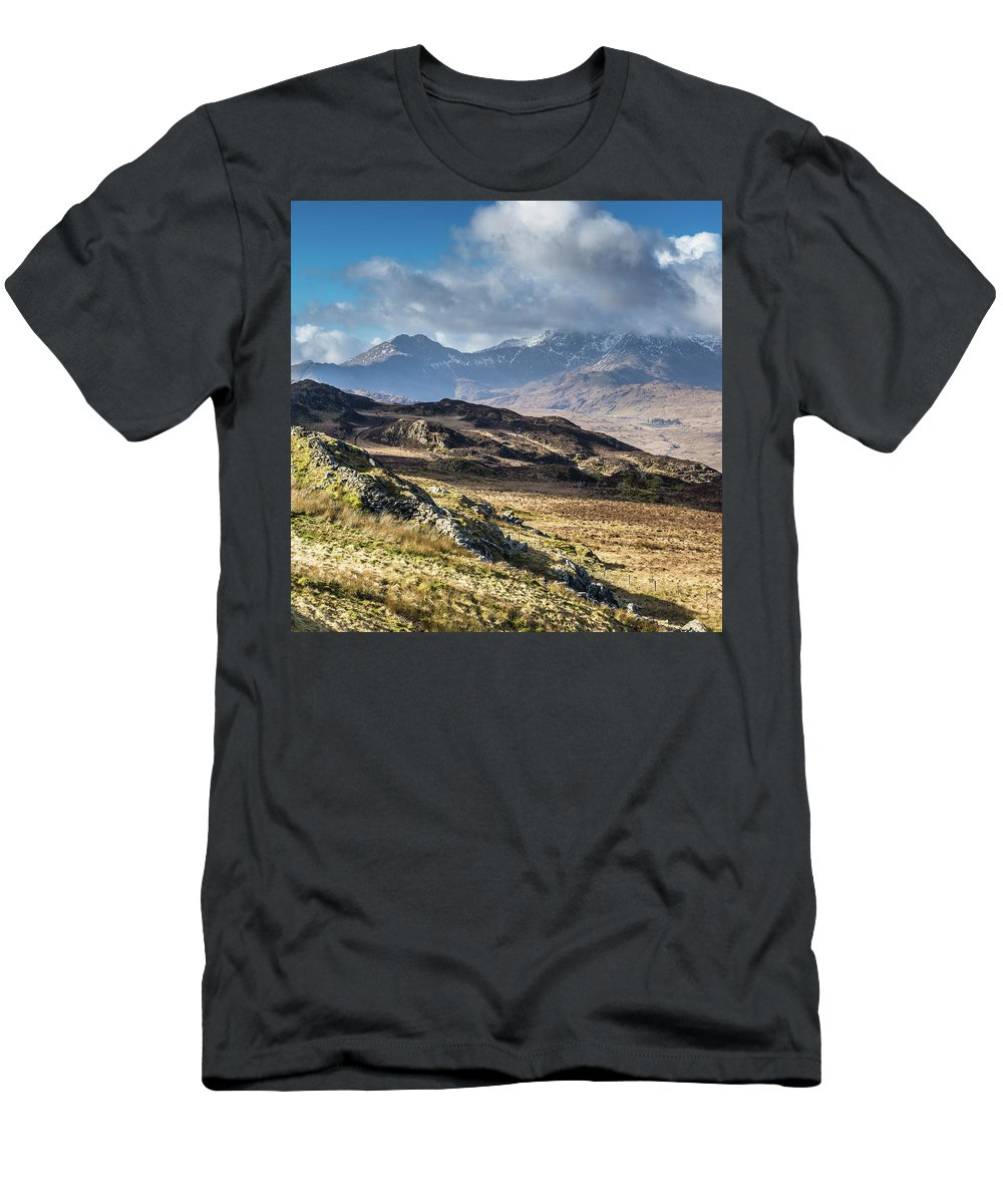 Moel Siabod T-Shirt featuring the photograph View from Moel Siabod, Snowdonia, North Wales by Anthony Lawlor