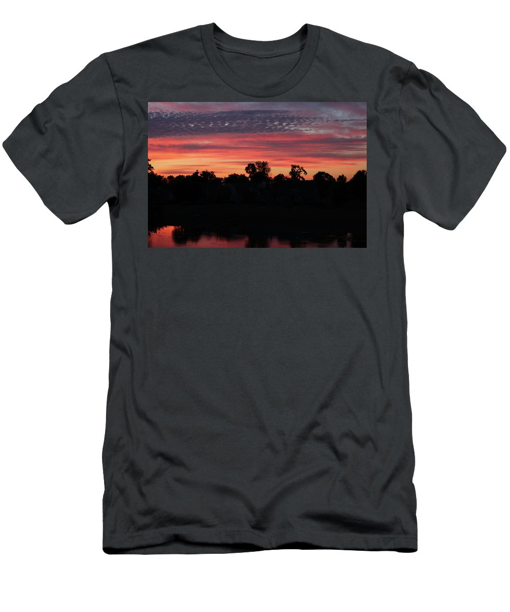 Digital Men's T-Shirt (Athletic Fit) featuring the photograph View From The Deck by Jeff Roney