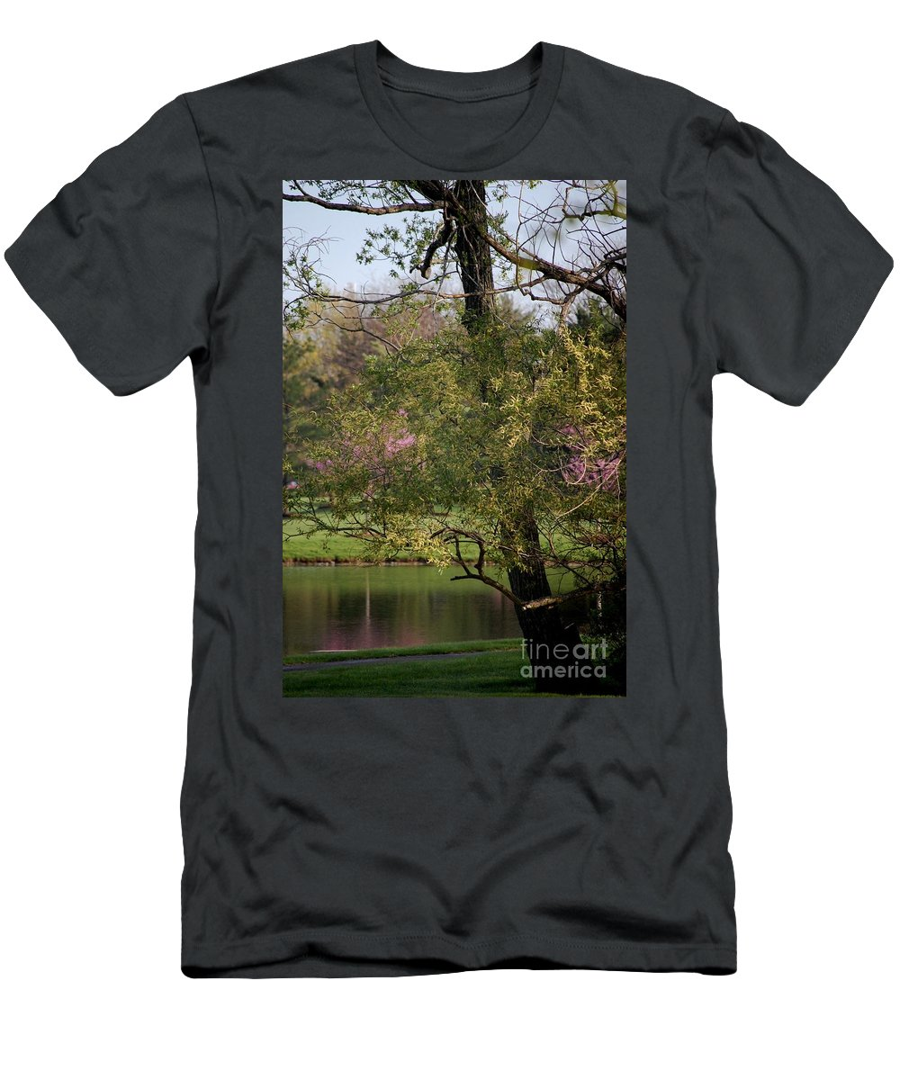 Landscape Men's T-Shirt (Athletic Fit) featuring the photograph View Out My Office Window. by David Lane