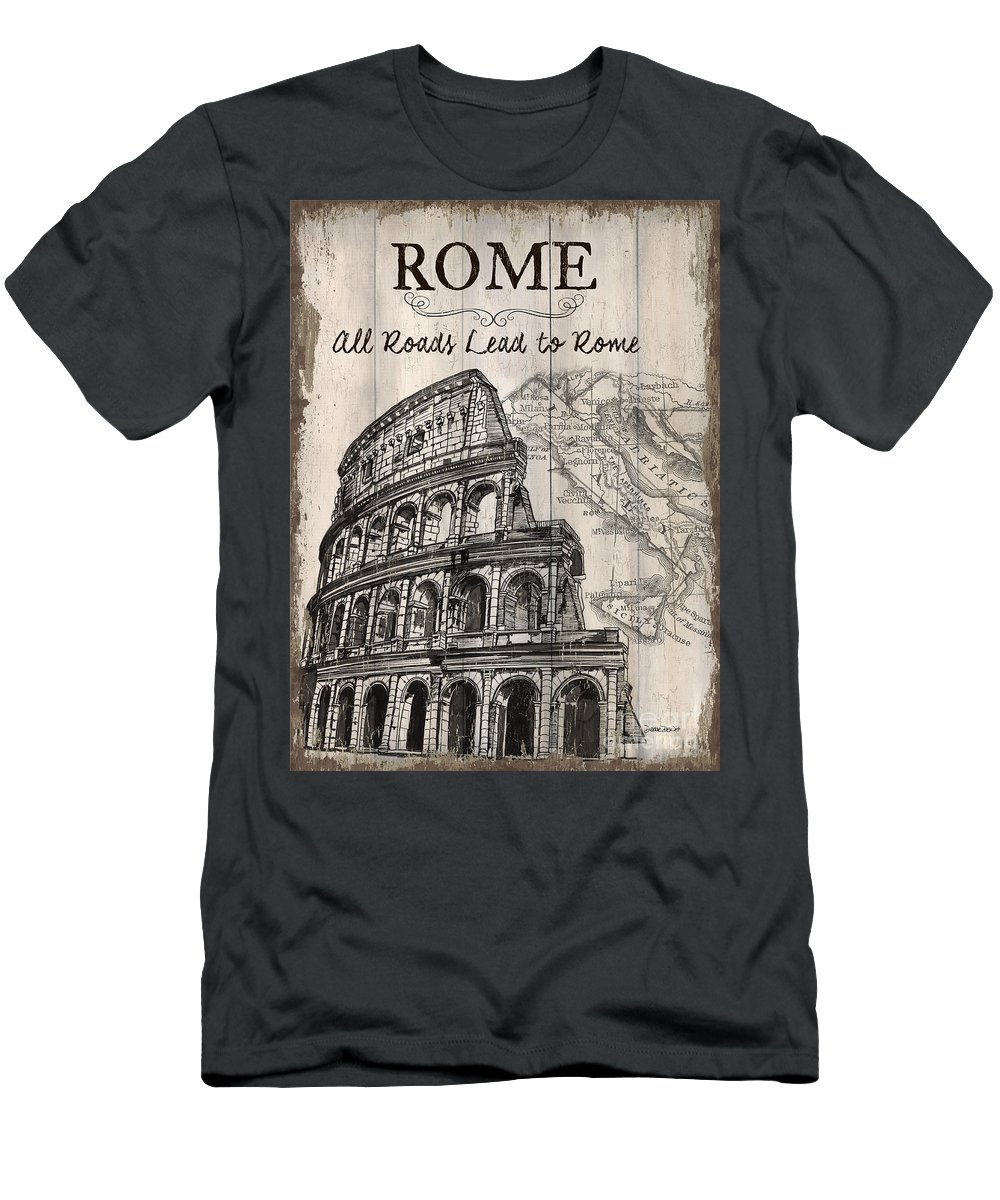 Rome T-Shirt featuring the painting Vintage Travel Poster by Debbie DeWitt
