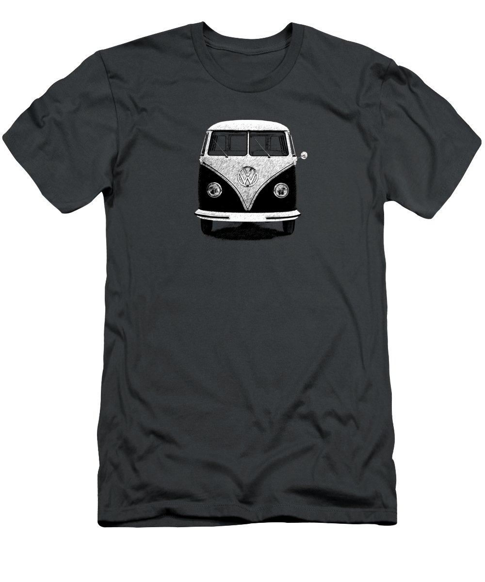 Volkswagen Men's T-Shirt (Athletic Fit) featuring the photograph Volkswagen T1 1963 by Mark Rogan