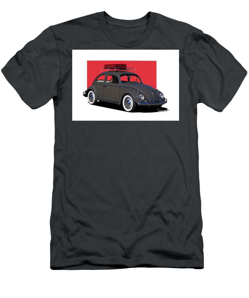 Volkswagen Men's T-Shirt (Athletic Fit) featuring the photograph Volkswagen Vw Beetle by Nick Gray