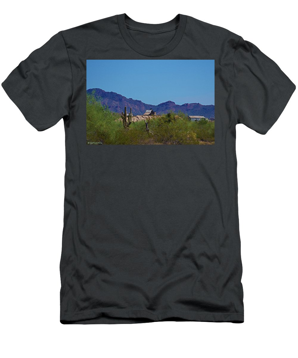 Mine Men's T-Shirt (Athletic Fit) featuring the photograph Vulture Mine Ahead by Darryl Treon