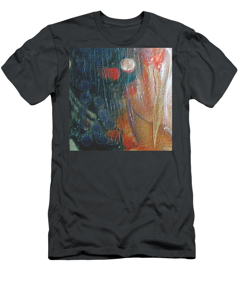Double Moon Men's T-Shirt (Athletic Fit) featuring the painting W 003 - Double Moon by Dragica Micki Fortuna