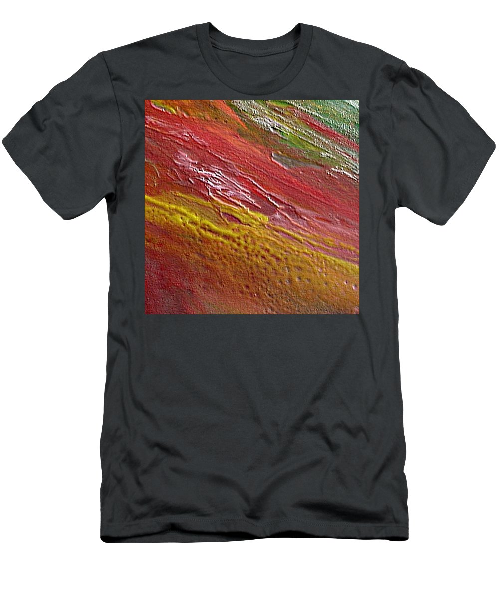 Encaustic Painting Men's T-Shirt (Athletic Fit) featuring the painting W 036 by Dragica Micki Fortuna