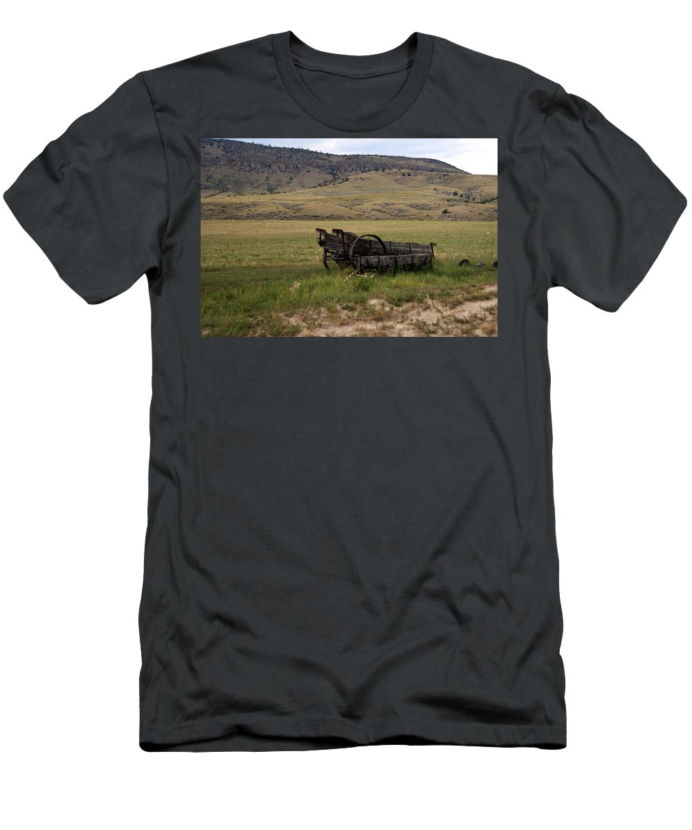 Ranch Men's T-Shirt (Athletic Fit) featuring the photograph Wagon Ho by Marty Koch