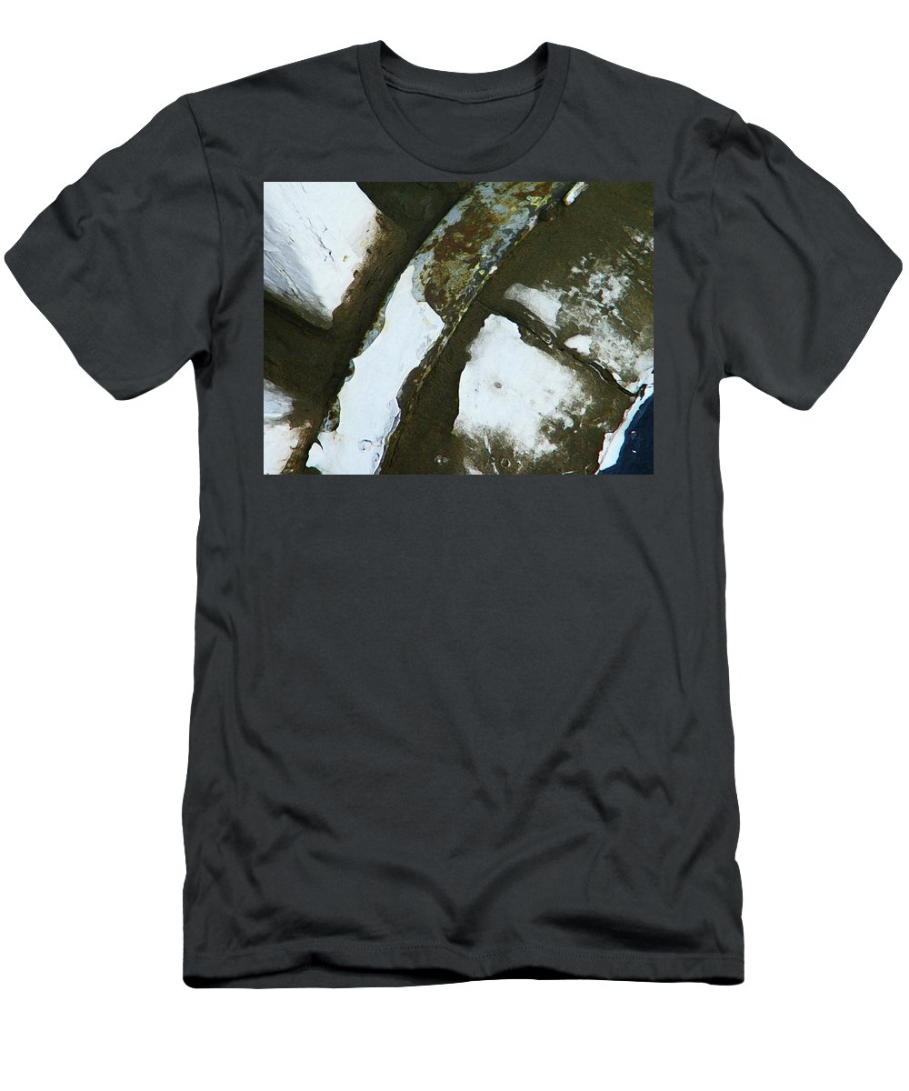Abstract Men's T-Shirt (Athletic Fit) featuring the photograph Wagon Wheel by Lenore Senior