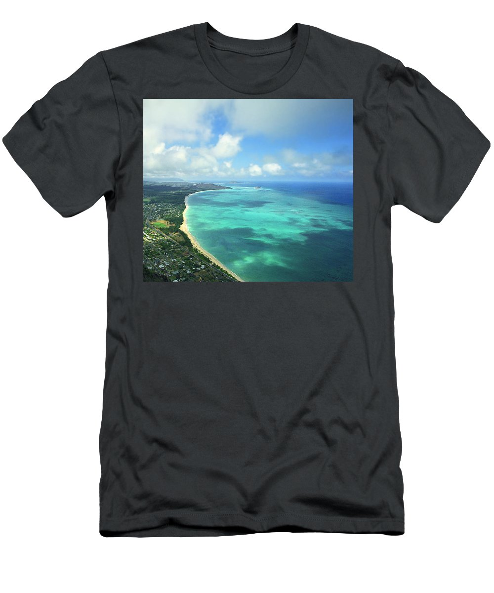 Waimanalo Men's T-Shirt (Athletic Fit) featuring the photograph Waimanalo Bay by Kevin Smith