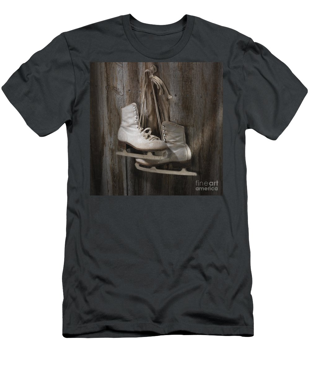 Sport Men's T-Shirt (Athletic Fit) featuring the photograph Waiting For The Pond To Freeze by Jerry McElroy