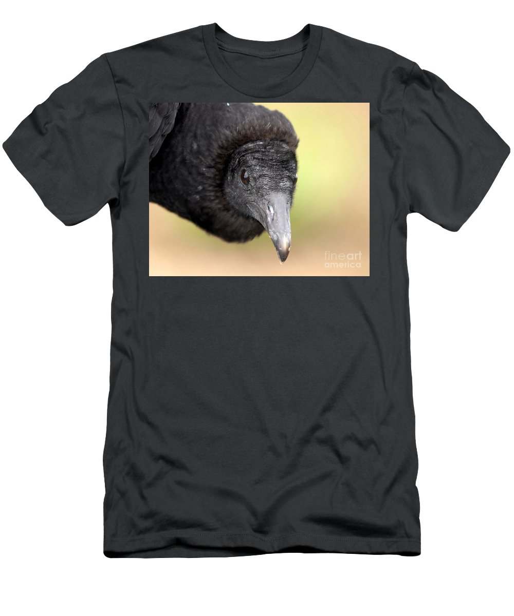Black Vulture Men's T-Shirt (Athletic Fit) featuring the photograph Waiting For You by David Lee Thompson