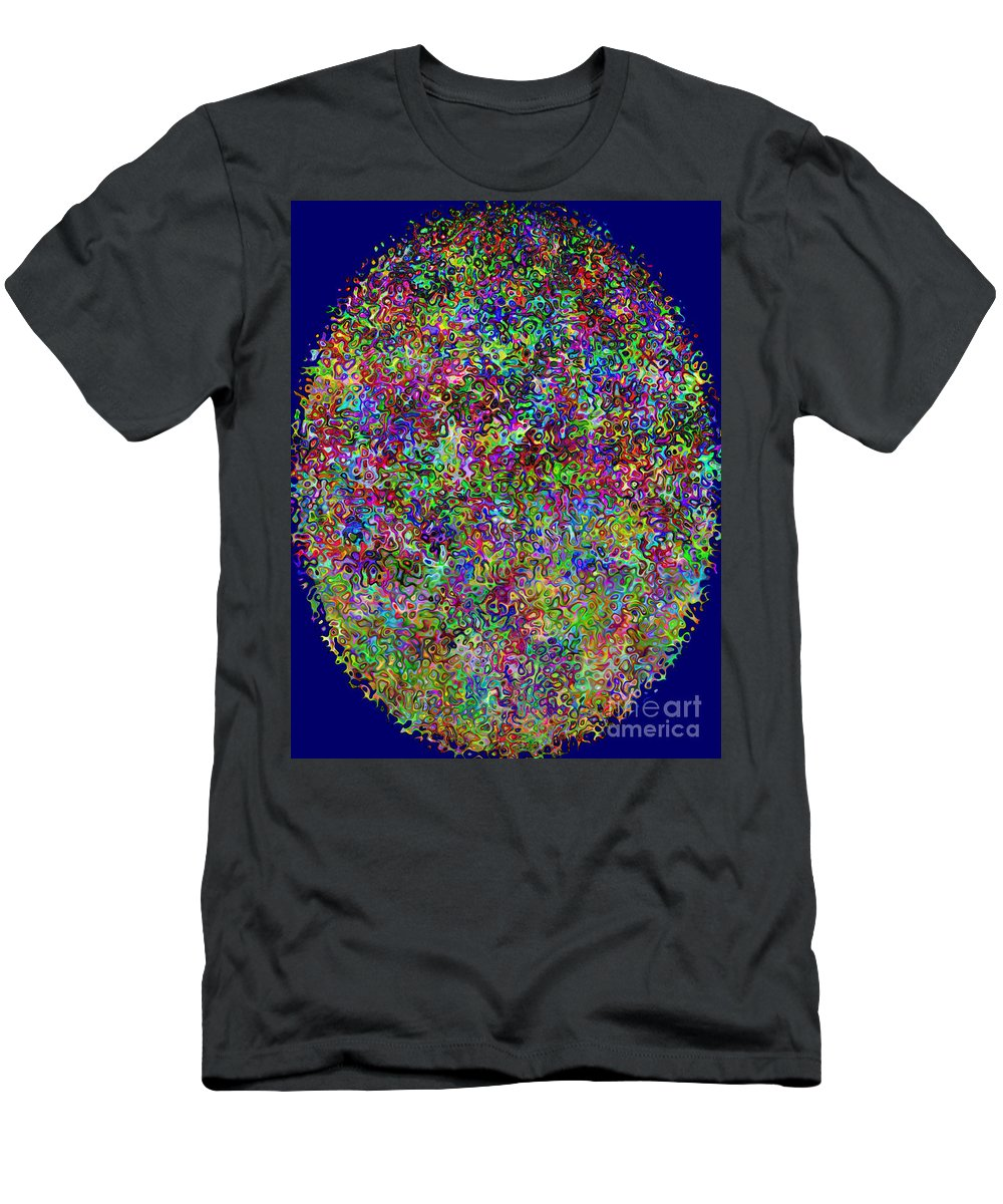 Kalidescope Men's T-Shirt (Athletic Fit) featuring the digital art Walk This Way by Debra Lynch