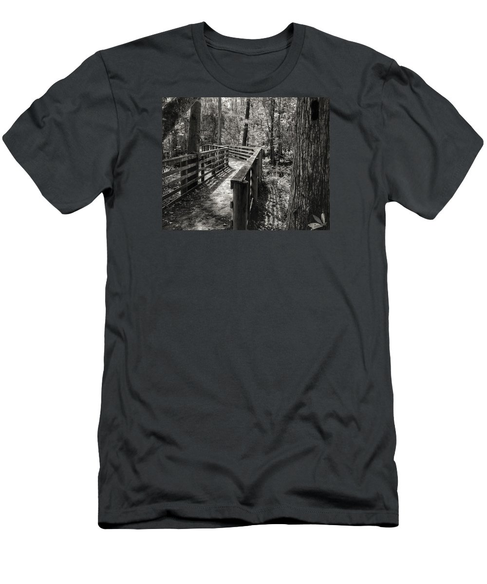 Trail Men's T-Shirt (Athletic Fit) featuring the photograph Walk With Me by Dario Boriani