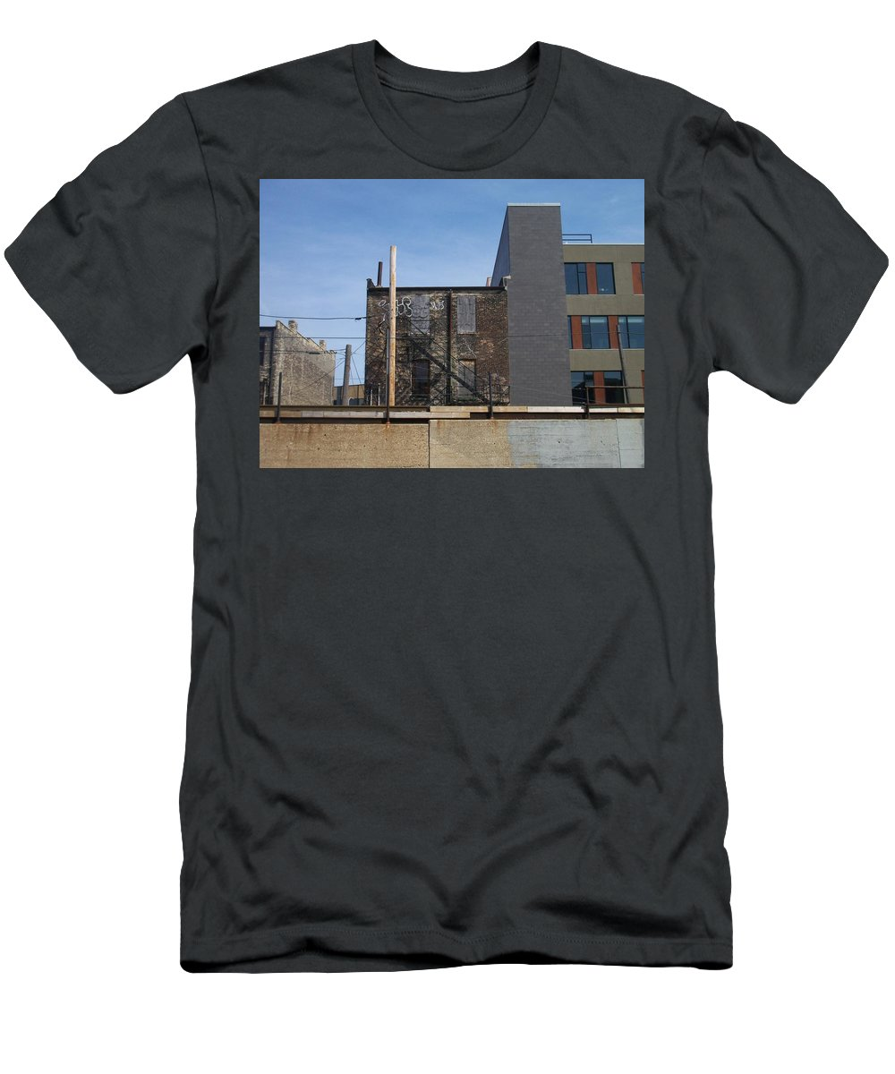 Walker's Point Men's T-Shirt (Athletic Fit) featuring the photograph Walker's Point 2 by Anita Burgermeister