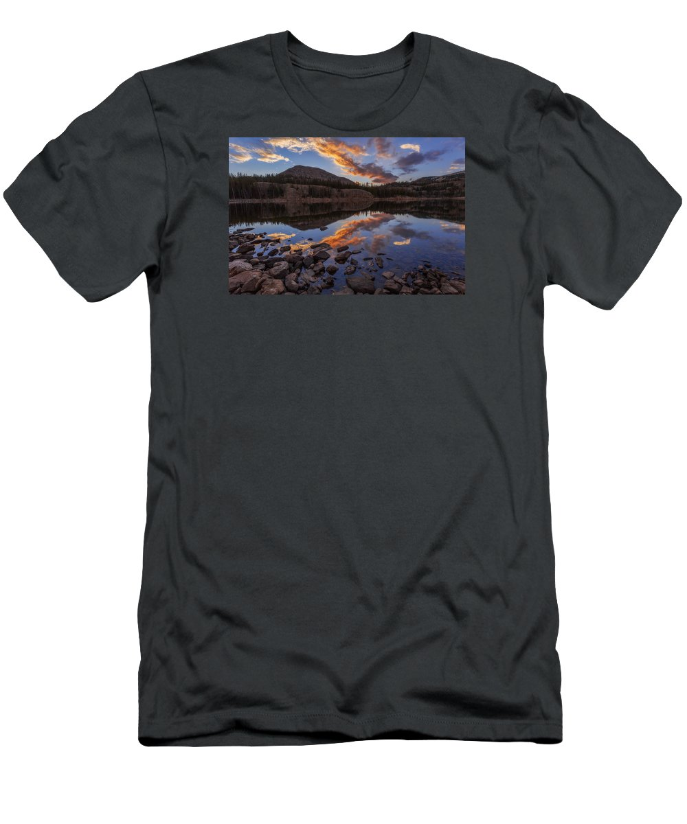 Wall Reflection Men's T-Shirt (Athletic Fit) featuring the photograph Wall Reflection by Chad Dutson