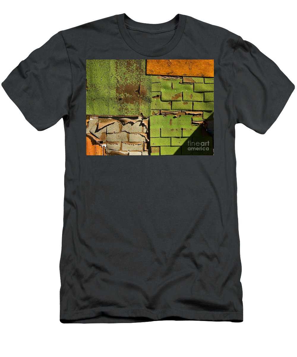 California Scenes Men's T-Shirt (Athletic Fit) featuring the photograph Wall Textures by Norman Andrus