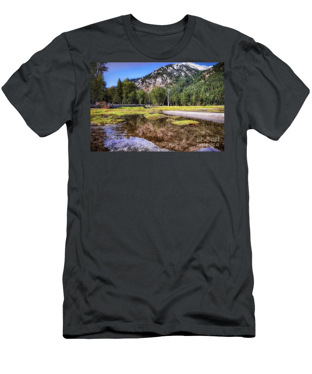 Men's T-Shirt (Athletic Fit) featuring the photograph Wallowa Lake Reflections by Marcia Darby