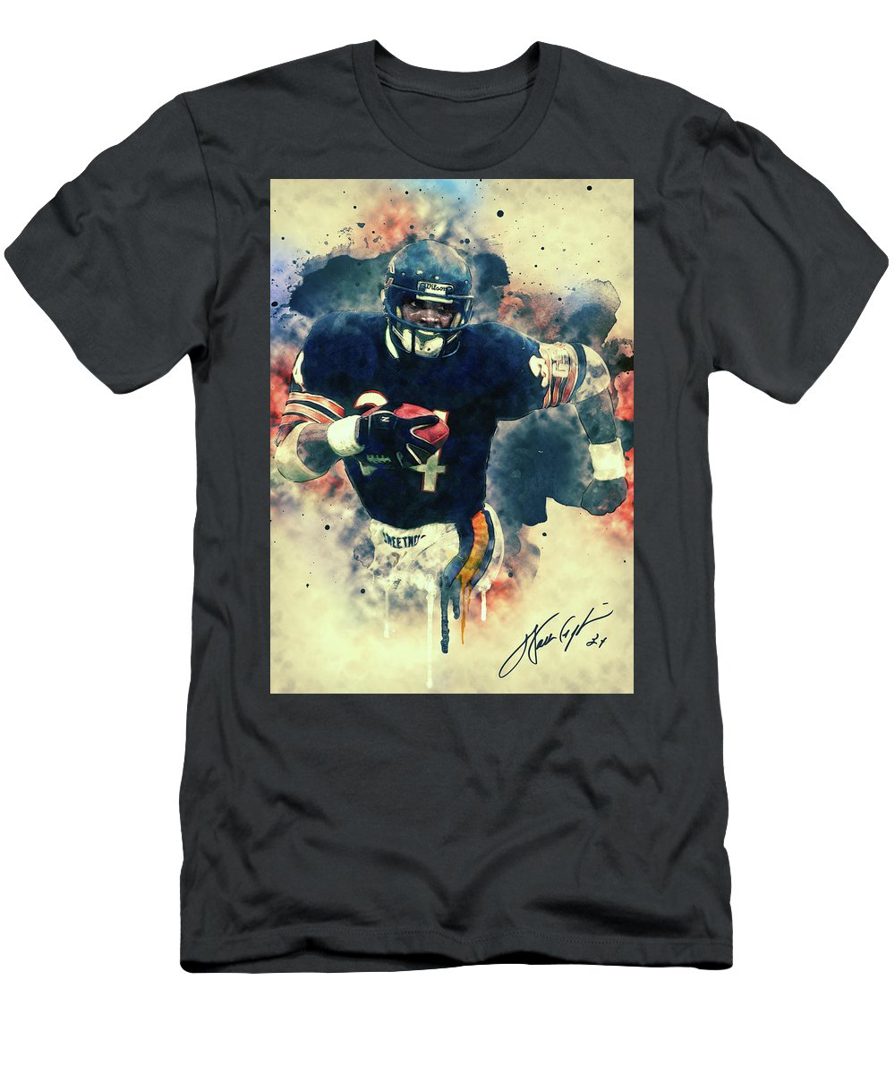 Walter Payton Men s T-Shirt (Athletic Fit) featuring the painting Walter  Payton by 1c1a71cd16e2