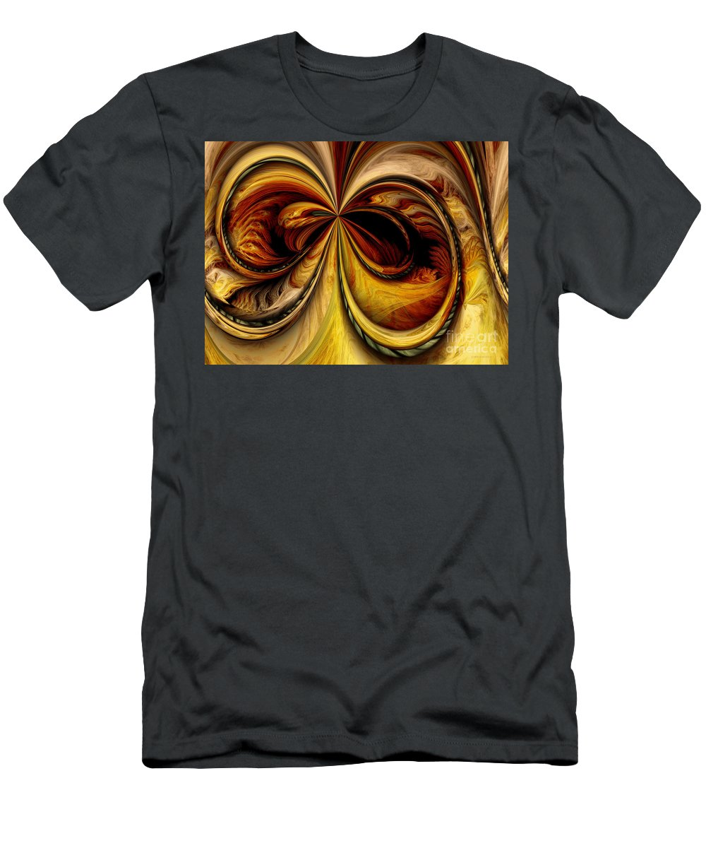 Digital Men's T-Shirt (Athletic Fit) featuring the digital art Warped Journey by Deborah Benoit