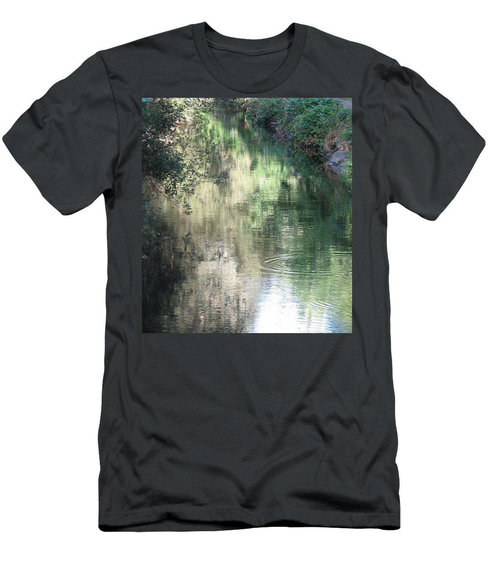 Reflection Men's T-Shirt (Athletic Fit) featuring the photograph Water Color by Kelly Mezzapelle