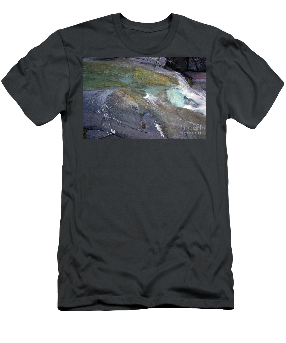 Tropical Men's T-Shirt (Athletic Fit) featuring the photograph Water Flow by Kerryn Madsen- Pietsch