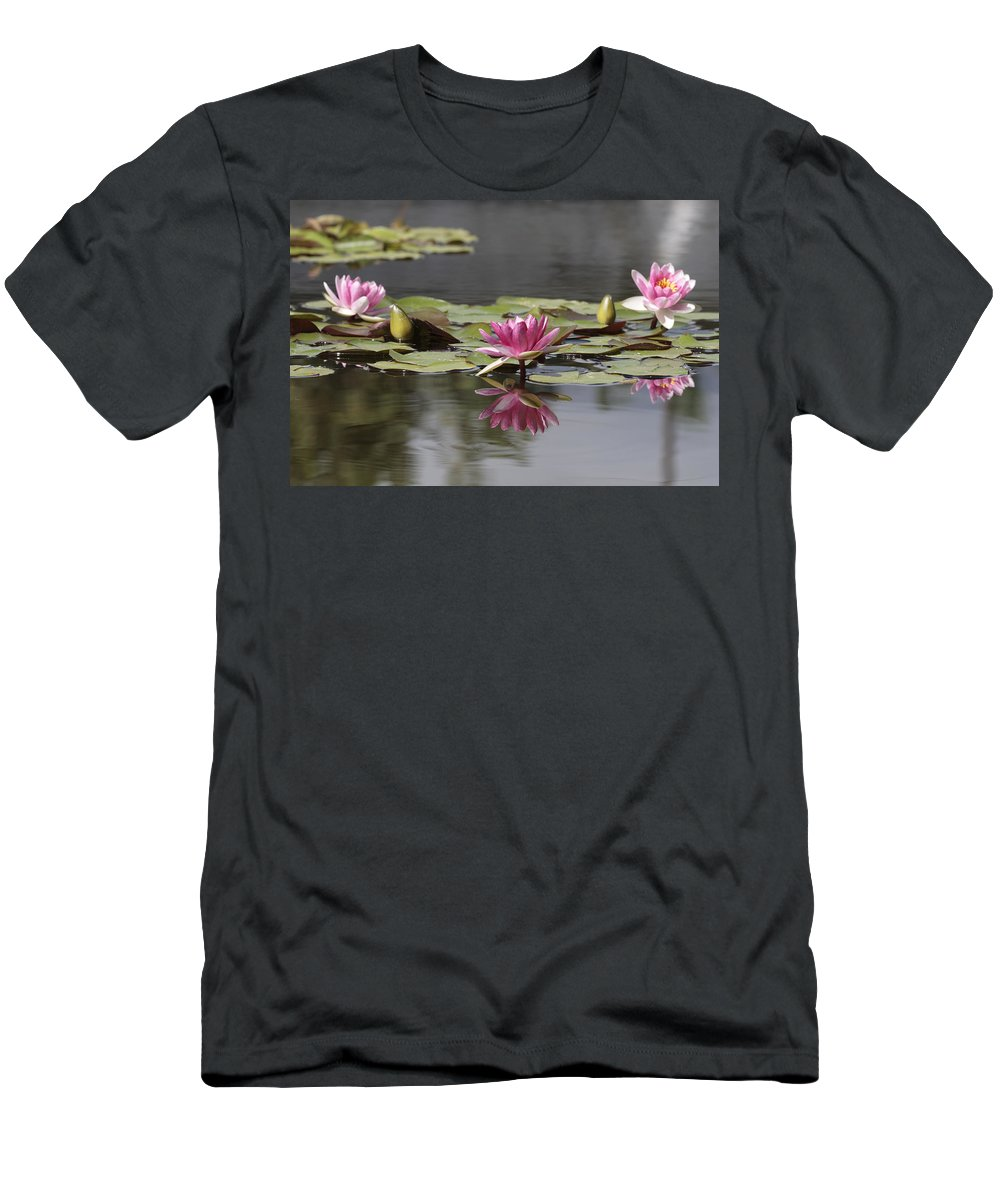 Lily Men's T-Shirt (Athletic Fit) featuring the photograph Water Lily 3 by Phil Crean