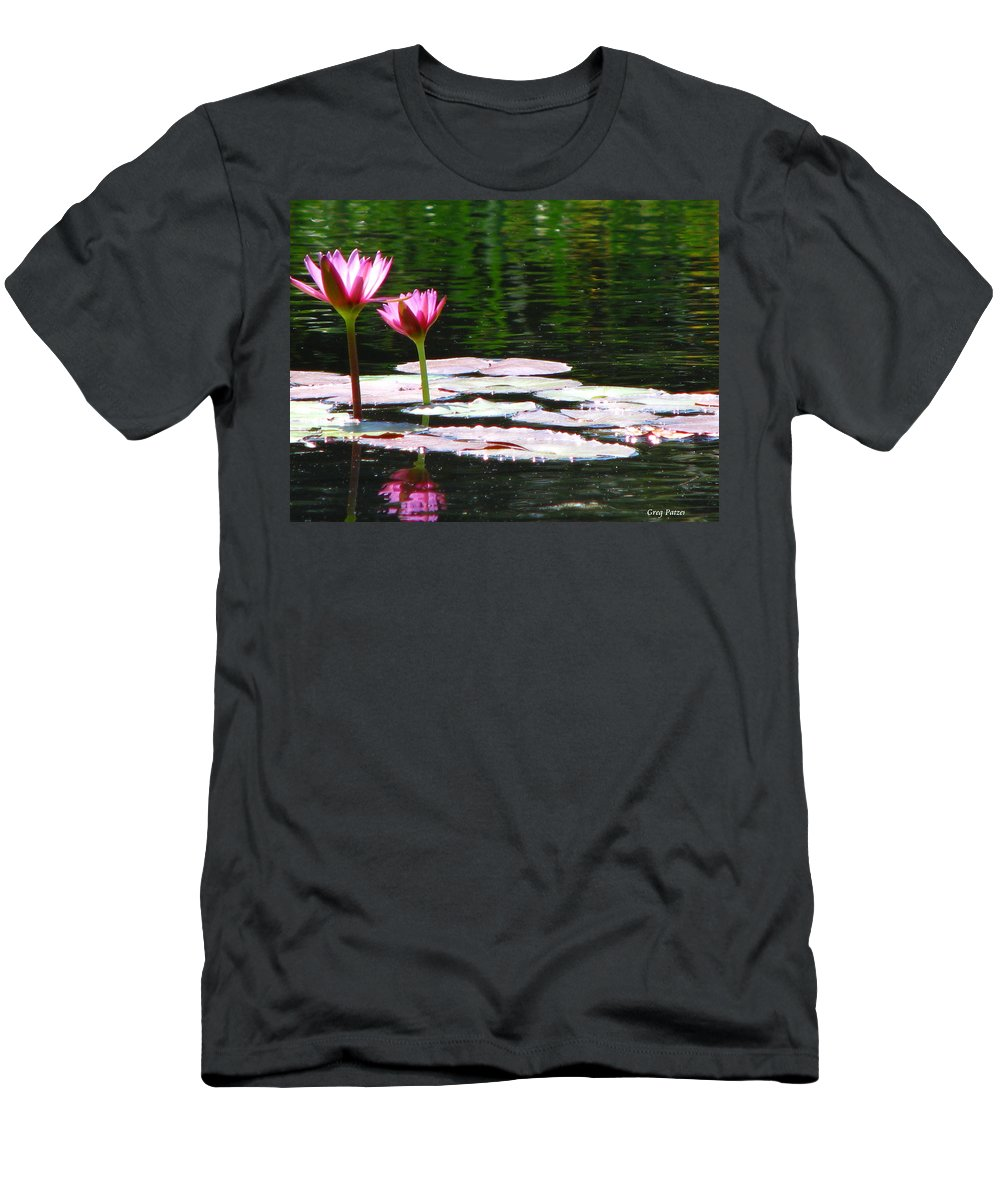 Patzer Men's T-Shirt (Athletic Fit) featuring the photograph Water Lily by Greg Patzer