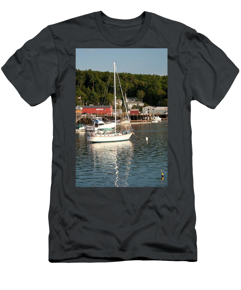 Boat Men's T-Shirt (Athletic Fit) featuring the photograph Water Song 1459 by Guy Whiteley