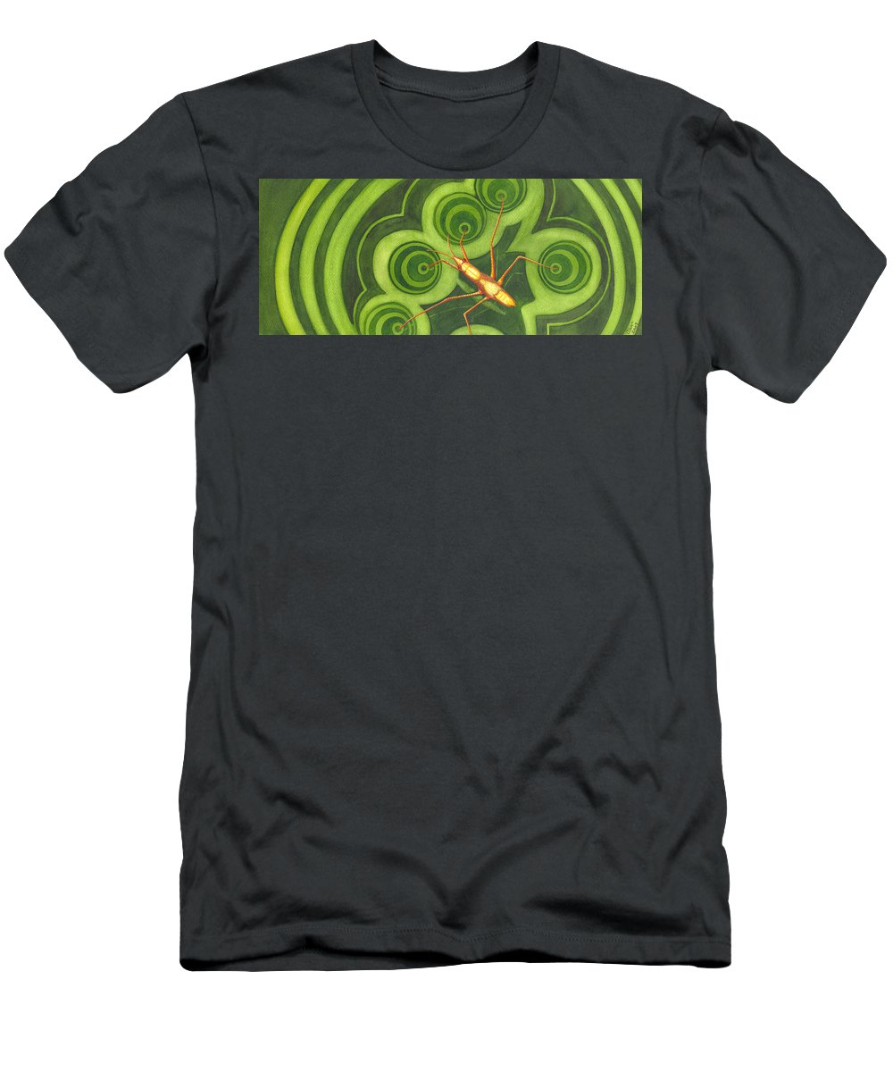 Strider Men's T-Shirt (Athletic Fit) featuring the painting Water Strider by Catherine G McElroy