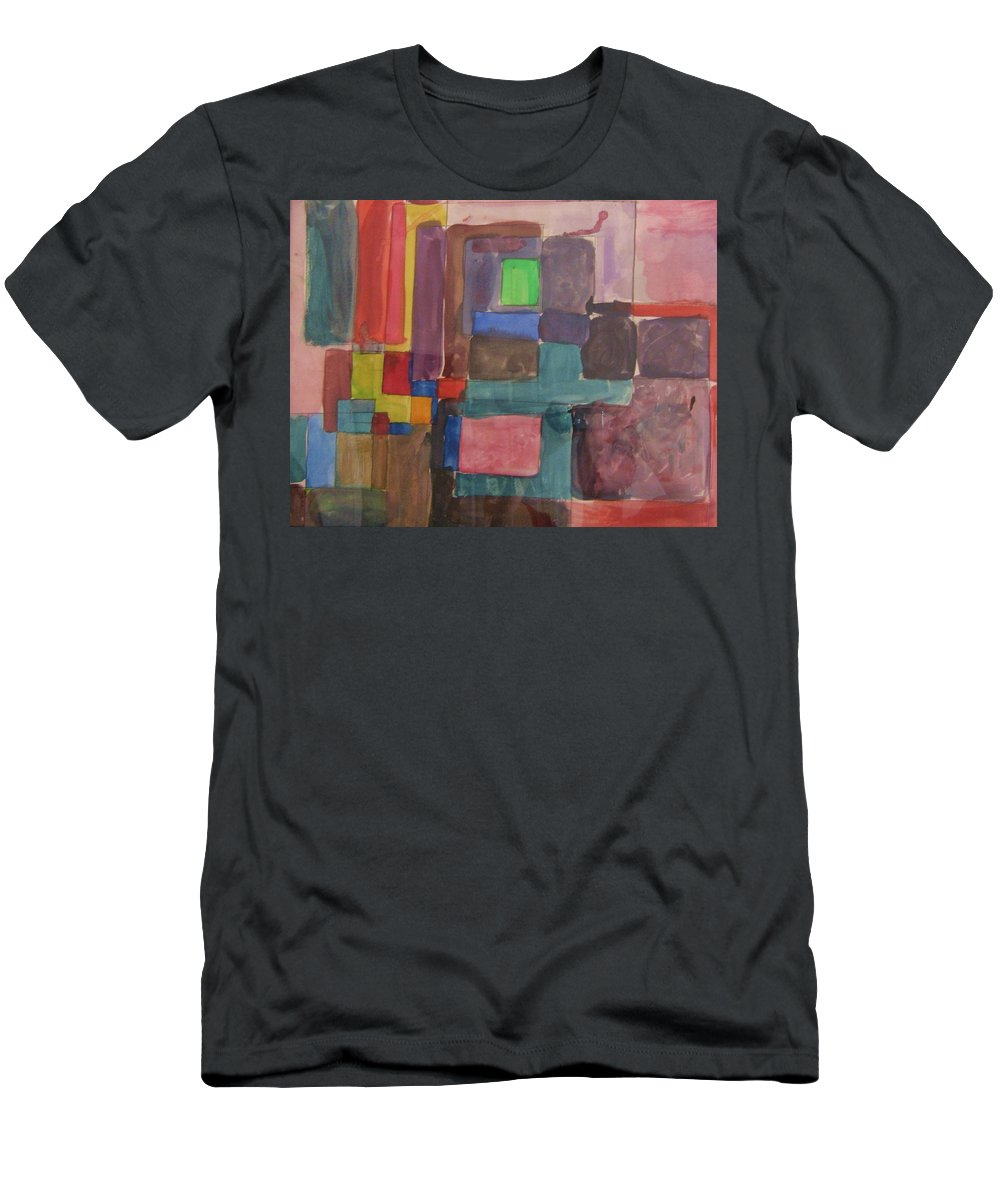 Modern Men's T-Shirt (Athletic Fit) featuring the painting Watercolor Shapes by Barbara Yearty