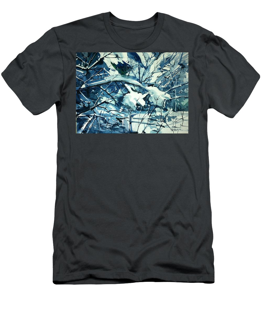 Men's T-Shirt (Athletic Fit) featuring the painting Watercolor4586 by Ugljesa Janjic