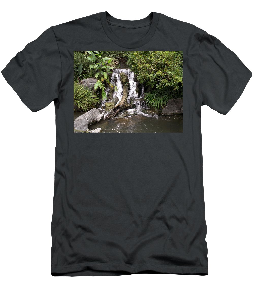 Water Men's T-Shirt (Athletic Fit) featuring the photograph Waterfall by Amy Fose