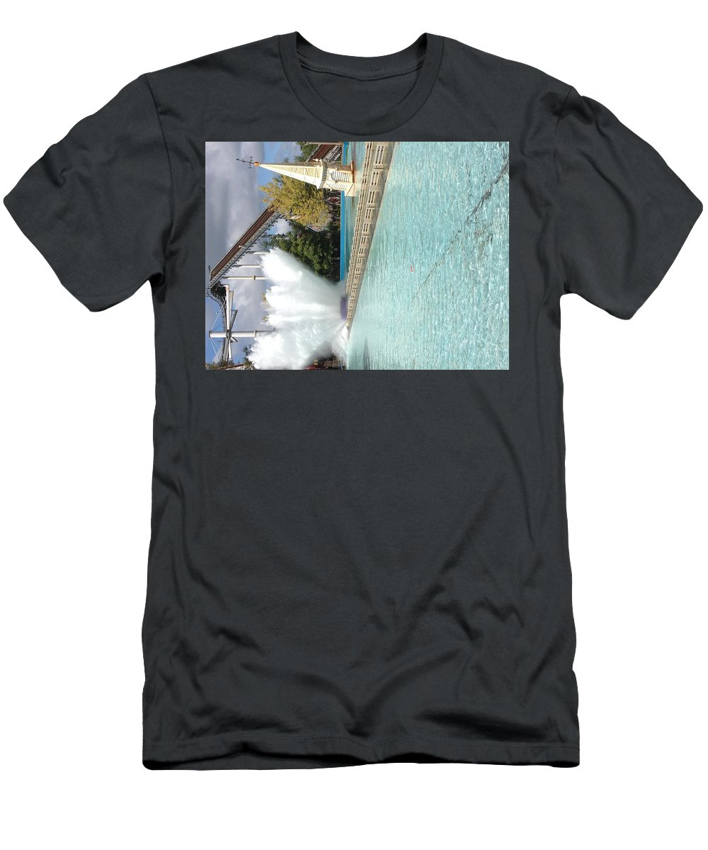 Men's T-Shirt (Athletic Fit) featuring the photograph Waterfun by Kerry Drew