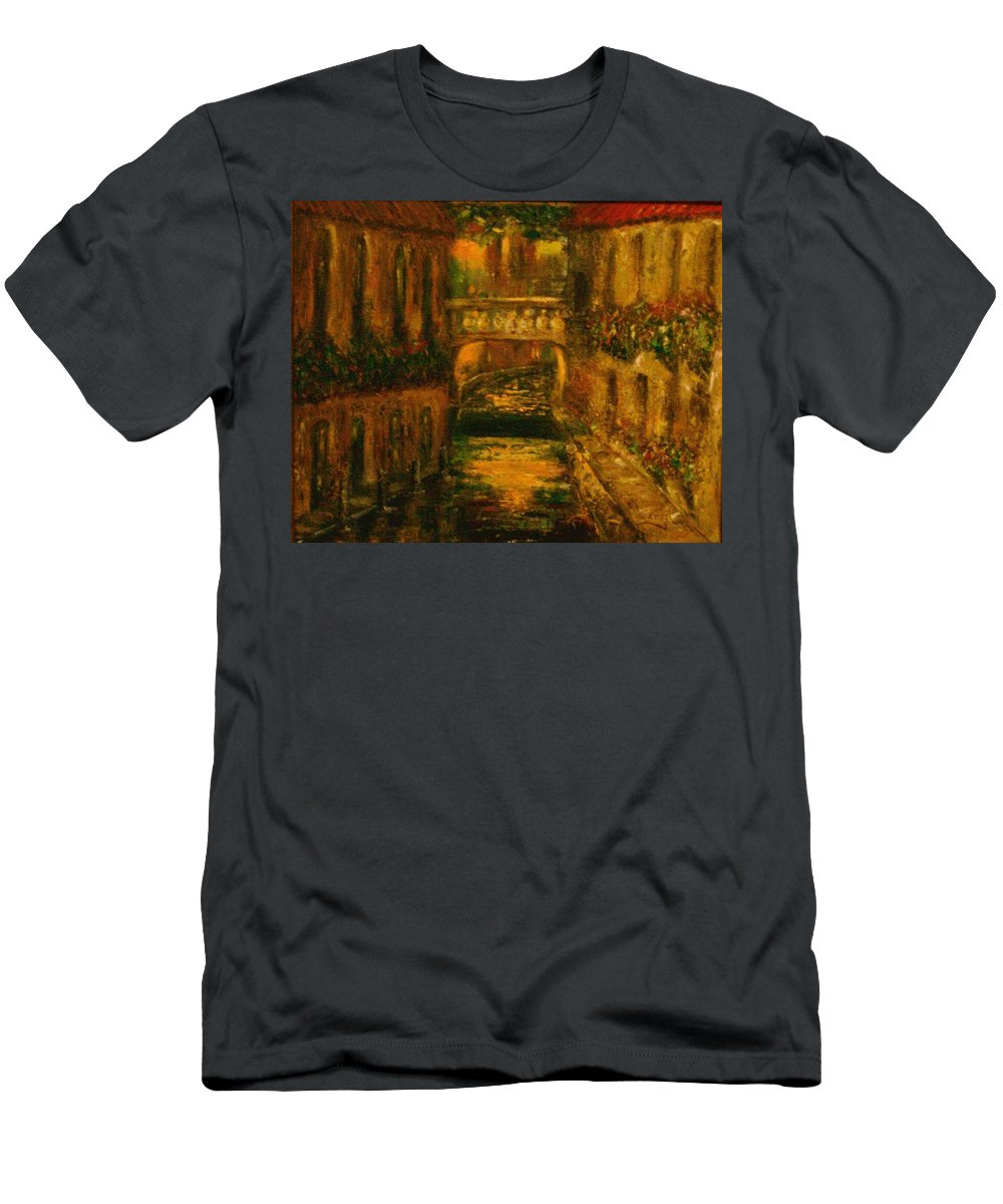Landscape T-Shirt featuring the painting Waters of Europe by Stephen King