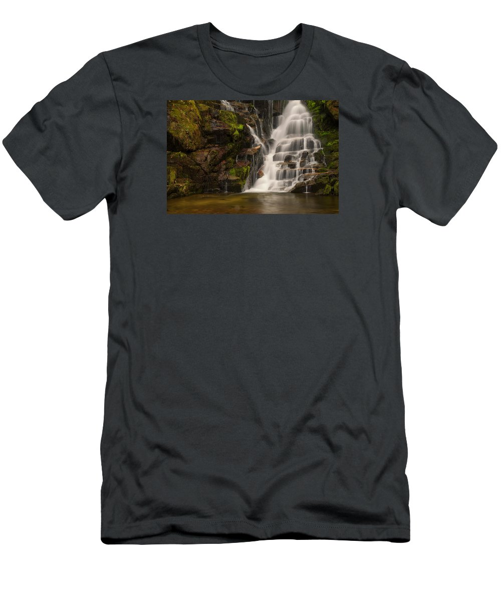 North Carolina Men's T-Shirt (Athletic Fit) featuring the photograph Water's Staircase by Reid Northrup
