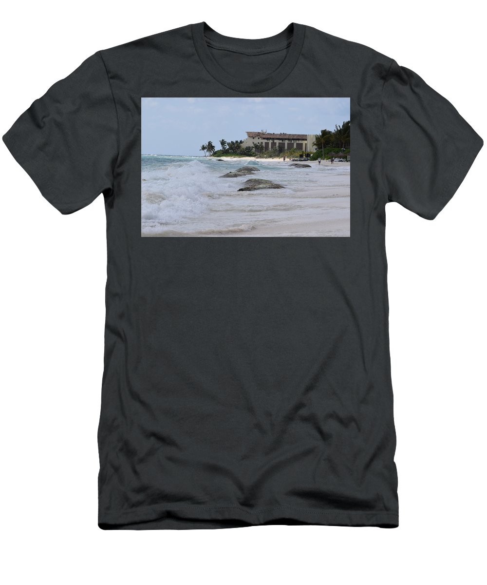 Ocean Men's T-Shirt (Athletic Fit) featuring the photograph Waves by Christina McNee-Geiger