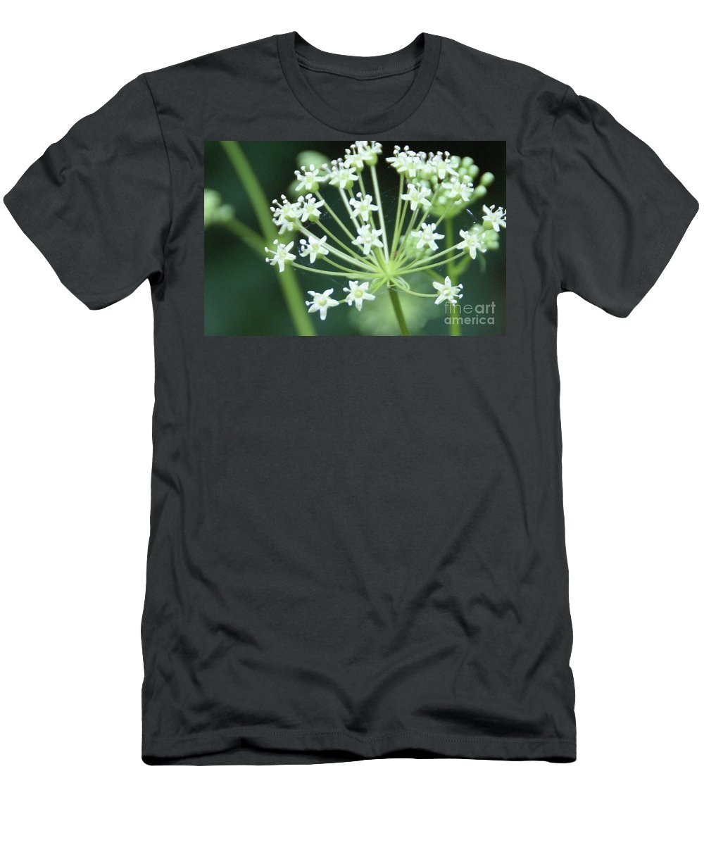 Flower Men's T-Shirt (Athletic Fit) featuring the photograph Web Design - 2 by Linda Shafer